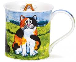 Dunoon-Mug-Comical Cat-Kaffe-Tee