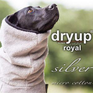 Dryup cape-silver-silber-bademantel-microcotton-hund