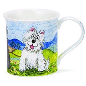Dunoon-bute-daft-dogs-westi, scottish-mug-tasse-hund
