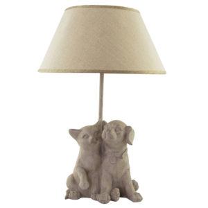 Lampe-Hund-Katze-beige-Hundeliebhaber-Katzenliebhaber