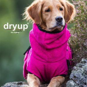 Dryup-cape-pink-bademantel-hund-rosa