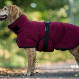 warmup-cape-bordeaux-actionfactory-hund-mantel-wärmemant-bademantel