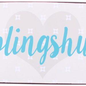 Blechschild-Vintage-Retro-Shabby-Chic-Hund-Lieblingshund-hellblau