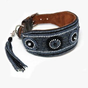 Perlenhalsband-Massai-Windhundhalsband-schwarz-gefüttert-breit