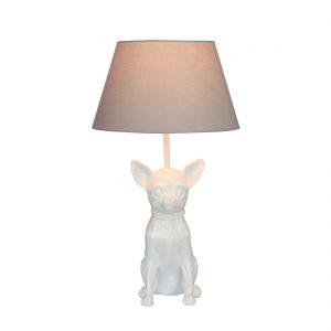Lampe-Chihuahua-weiss-hochglanz-Hund