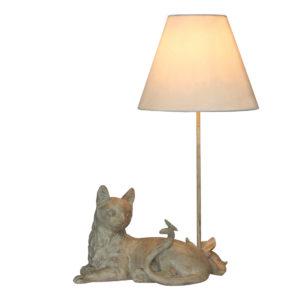 Lampe-Katze-Schmetterling-Tischlampe-beige