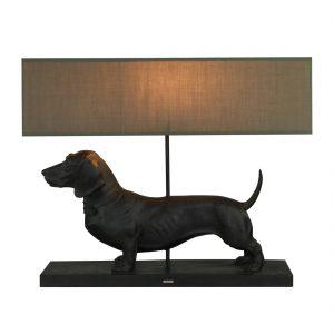 Lampe-Dackel-Teckel-Hund-schwarz