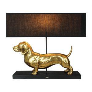 Lampe-Dackel-Dachshund-gold-schwarz-Hund