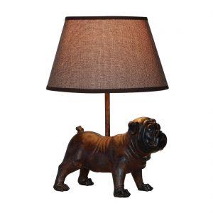 Lampe-Englische Bulldogge-Hund-schwarz