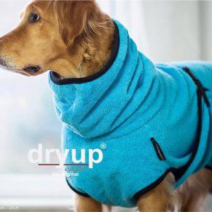 Dryup Cape-Hundebademantel-Bademantel-farbig-saugfähig-optimale passform-türkis