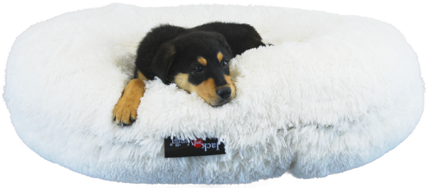 Hundebett-Donut-Puff-kuschelweich-komfortabel-petsolutions-Jacke and Vanilla-Home sweet Home-Hund-Luxus