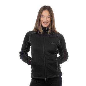 Arrak Outdoor-Jacke-Fleece-Stretch-Hund-Hundebekleidung-Hundesport-Outdoorbekleidung-Power Fleece Women- Women-navy-black-fuchsia3