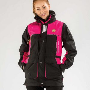 Arrak Winterjacke-pink-schwarz-warm-Hundesport-funktoinal-Outdoor-Wandern-Fischen-Sport
