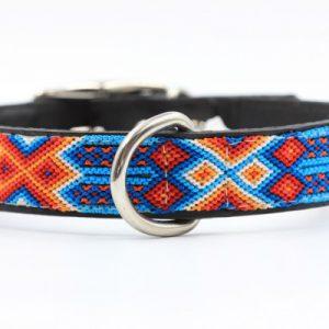 Otami-klein-Heka Pet-Halsband-Boho-Ibiza-Hippie-farbig-Stylish-Hund-braun-grue