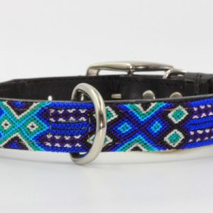 Azulic-Heka Pet-Halsband-Boho-Ibiza-Hippie-farbig-Stylish-Hund-blau