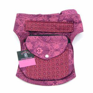 Bauchgurt-Hueftgurt-Bauchtasche-Hip Bag-Hundespaziergang-Hund-Pfoten-Gudibeutel-Unterwegs-pink-rosa-XXL-Muster-Nijens-Barcelona533
