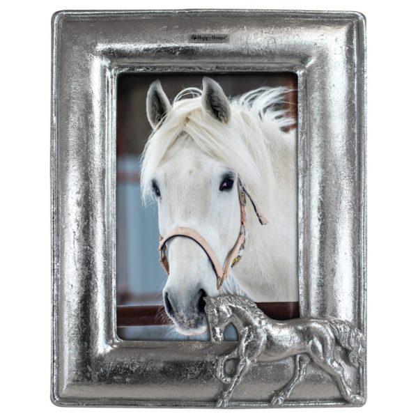 Bilderrahmen-Pferd-silber-Vintage-Triptychon-Pferdeliebhaber-Geschenk-Horse