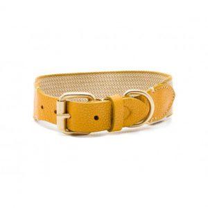 Collar-Peruvian-Buddys-Hundehalsband-geflochten-Hahnentritt-gelb-yellow-James yellow