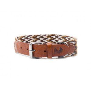 Collar-Peruvian-Buddys-Hundehalsband-geflochten-braun-beige-weiss- Peruvian braun