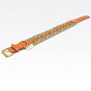Collar-Peruvian-Buddys-Hundehalsband-geflochten-gruen-Etna green 1