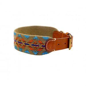 Collar-Peruvian-Buddys-Hundehalsband-geflochten-gruen-Etna green