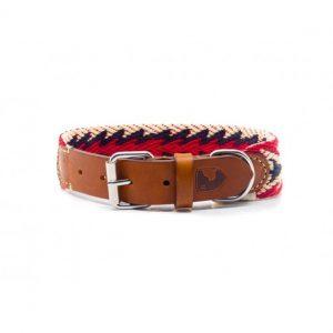 Collar-Peruvian-Buddys-Hundehalsband-geflochten-rot-blau-weiss-Arrow red 1