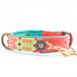 DWAM, Dog with a mission, Halsband, Hundehalsband, Leder, Hippie, Boho, Ibiza, ginger