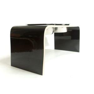Doppelnapf-Dog-Bowl-Stand-Dog-Feeding-Station-Lack-einfach-zu-Waschen-Holz-hygienisch-Hundenapf-Edelstahl-Katzennapf-edles-Design-Hundeliebhaber-lola-and-daisy-design-made-in-uk-schwarz-black