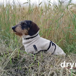 DryUp cape-Dackel-Sausage Dog-beige-Bademantel-Mantel-Trocknungsmantel-spezielle Groesse1
