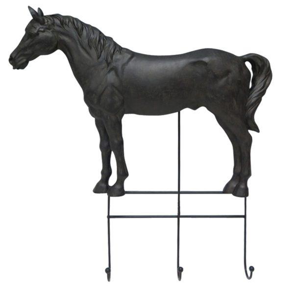 Garderobe-Pferd-schwarz-Pferdeliebhaber-Ordnung-Schluesselbrett