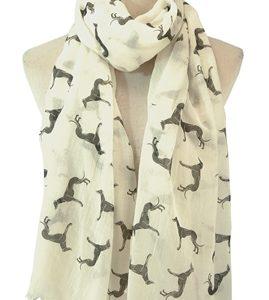 Schal-Greyhound-Hund-Rasse-weiss