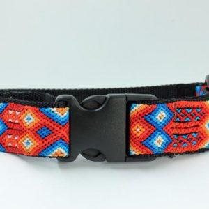 HEKA-PET-Ibizia-Style-Halsband-Hundehalsband-Mexiko-geflochten-Hand-Made-Clickverschluss-schwarzer-D-Ring-Vegan-grün-orange-weiss-schwarz-Aurora-