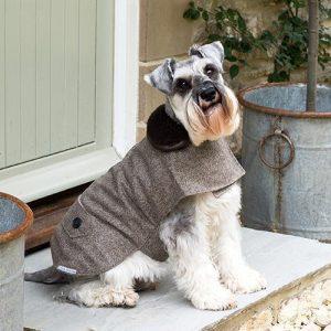 Hundemantel-Tweed-Mutts and Hounds-kuschlig-warm-Herringbone