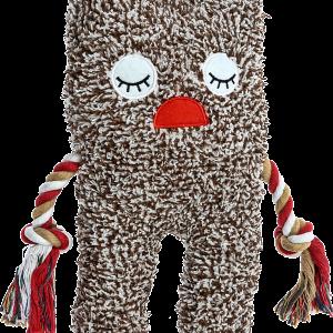 Hundespielzeug-Spielzeug-Hund-Shizzlies-Freckles-rot-weiss-braun