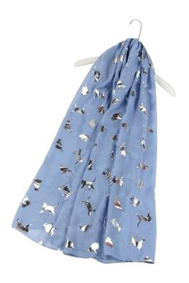 Katzen-Schal-silber-denim-warm-kuschlig