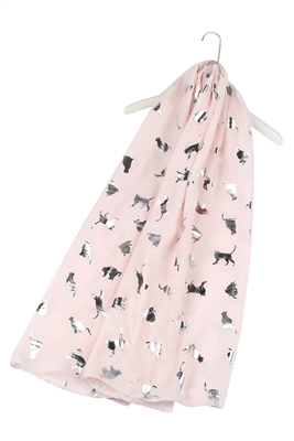 Katzen-Schal-silber-rosa-warm-kuschlig