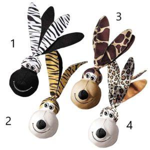 Kong-Wubba-Floppi-Ears-Hundespielzeug-Dog-toy-tierisch-braun-weiss-schwarz
