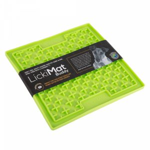 Lickimat-Hund-Katze-Beschäftigung-Stressabbau-Spielzeug-Hundespielzeug-Katzenspielzeug-Lecken-LickiMat L-grün