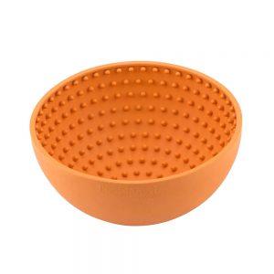 Lickimat-Hund-Katze-Beschäftigung-Stressabbau-Spielzeug-Hundespielzeug-Katzenspielzeug-Lecken-LickiMat Wobble-orange