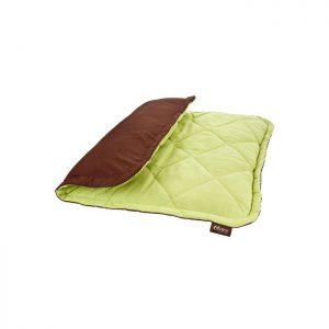 Liegekissen-Hundebett-beheiztes Hundebett-Wärmekissen-Katzenbett-selbstwärmend-ohne Strohm-ohne Batterie-grün-braun