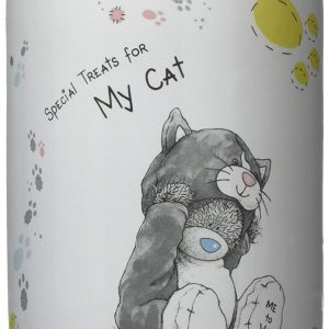 Me to you-Vorratsdose-Keramikdose-Leckerlidose-Futterdose-Katze-Cat-Futter-Leckerli-Gutzi-mehrfarbig-multicolor-baer-weiss