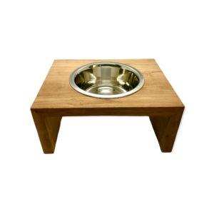 Napf-Fressnapf-Futternapf-Hund-Katze-Holz-Metall
