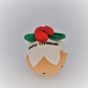Pfoetil-Shop-Geschenk-Hundespielzeug-Dog Toy-XMas-Weihnachten-plumpuding-tennisball-beige-weiss-festlich