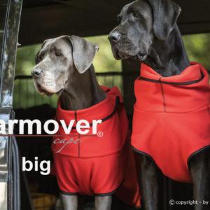 Pfoetli Shop-Action factory-Warmover Cape-mini-big-Hundemantel-Wärmemantel-Sport-Hundesport-Gesundheit-rot