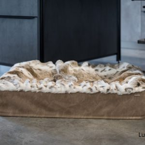 Pfoetli-Shop-BUDDELBOX-Hundebett_Dogspring-eckiges Hundebett-fake fur-Hundetraeume-qualität-Maul Ledermanufaktur-Luchs