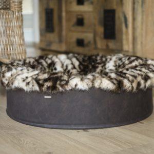 Pfoetli-Shop-BUDDELNEST-Hundebett_Dogspring-eckiges-Hundebett-fake-fur-Hundetraeume-qualität-Maul-Ledermanufaktur-Leopard