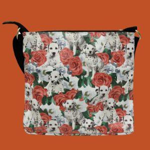 Pfoetli-Shop-Geschenk-Hundeliebhaber-Hundenarr-Hundefreund-Dalmatiner-Bag-Crossbody-Umhängetasche-Reissverschluss-rot
