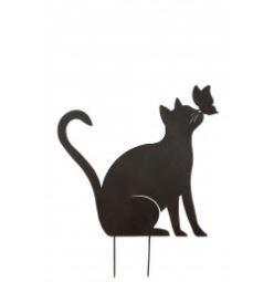Pfoetli-Shop-Gilde-Handwerk-Geschenk-Gartenstecker-Gartendekoration-Dekoration-Katze-schwarz-Metall