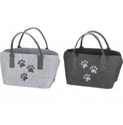 Pfoetli-Shop-Gilde-Handwerk-Geschenk-Tasche-Filtasche-Filz-Katze-Hund-Pfoten-Pfoetchen-grau-hellgrau-Einkauf