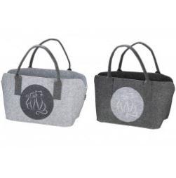 Pfoetli-Shop-Gilde-Handwerk-Geschenk-Tasche-Filtasche-Filz-Katze-grau-hellgrau-Einkauf